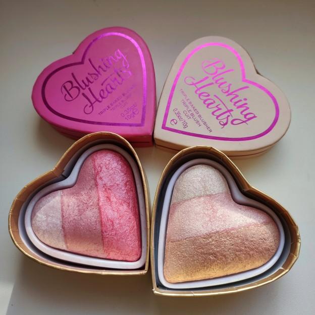 Румяна-хайлайтер Blushing Hearts: обзор, свотчи