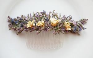 гребень из сухоцветов. украшение из лаванды
