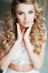 макияж для светлых волос и голубых глаз. локоны на фотосессию