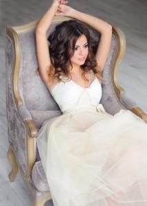 визажист на дом москва. красивый образ в платье