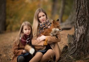Фотосессия с лисой в Серебряном бору