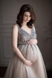 Новогодняя фотосессия для будущей мамы